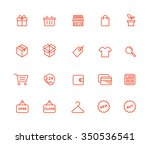 shopping icons | Shutterstock .eps vector #350536541