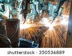 team welding robots represent... | Shutterstock . vector #350536889