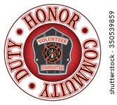 volunteer firefighter duty... | Shutterstock .eps vector #350539859