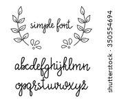 simple handwritten pointed pen... | Shutterstock .eps vector #350554694