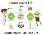 how to prevent hepatitis a.... | Shutterstock .eps vector #350556275