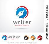 writer logo template design... | Shutterstock .eps vector #350561561