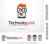 geek technology logo template... | Shutterstock .eps vector #350561609