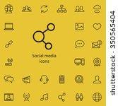 social media outline  thin ...   Shutterstock .eps vector #350565404