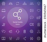 social media outline  thin ...   Shutterstock .eps vector #350565467