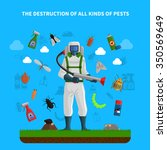 pest control concept with... | Shutterstock .eps vector #350569649