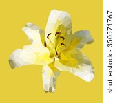 polygonal yellow lily  polygon... | Shutterstock .eps vector #350571767