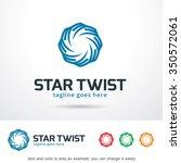 star twist logo template design ... | Shutterstock .eps vector #350572061