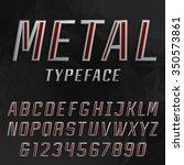 alphabet vector bold font. type ... | Shutterstock .eps vector #350573861