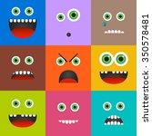 Set Of 9 Different Emoticons I...