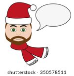 handsome man with santa's hat...