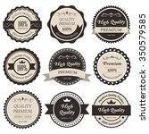 premium label vintage style.... | Shutterstock .eps vector #350579585