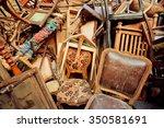 vintage wooden furniture in... | Shutterstock . vector #350581691