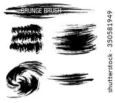 vector set of grunge brush... | Shutterstock .eps vector #350581949