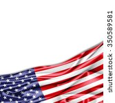 america flag of silk with... | Shutterstock . vector #350589581