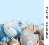 pastel colored easter eggs. | Shutterstock . vector #3505916