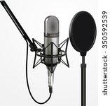sound recording equipment... | Shutterstock .eps vector #350592539
