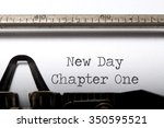 new day chapter one  | Shutterstock . vector #350595521