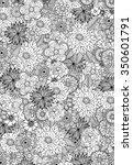 hand drawn zentangle doodle... | Shutterstock .eps vector #350601791