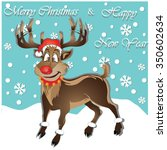 reindeer merry christmas and... | Shutterstock .eps vector #350602634