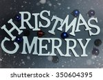 christmas word ball | Shutterstock . vector #350604395