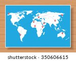 vector world map with... | Shutterstock .eps vector #350606615