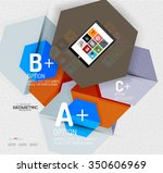 abstract info banner with... | Shutterstock .eps vector #350606969
