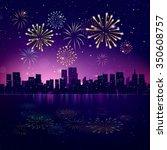 night city skyline with... | Shutterstock .eps vector #350608757