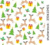 seamless christmas wallpaper   Shutterstock .eps vector #350610401