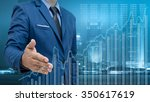 business man and visual graph... | Shutterstock . vector #350617619
