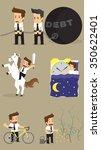 set businessman character.... | Shutterstock .eps vector #350622401