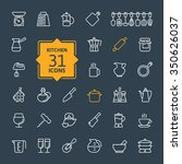 outline icon collection  ... | Shutterstock .eps vector #350626037