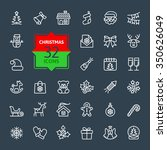 outline icon collection  ... | Shutterstock .eps vector #350626049