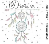 double dream catcher on an... | Shutterstock .eps vector #350627489