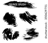 vector set of grunge brush... | Shutterstock .eps vector #350629751