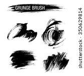 vector set of grunge brush... | Shutterstock .eps vector #350629814