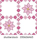 seamless pattern with cute pink ... | Shutterstock .eps vector #350636465