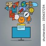 modern web commerce... | Shutterstock .eps vector #350637254