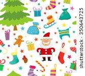 christmas seamless simple... | Shutterstock .eps vector #350643725