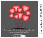 love heart balloon | Shutterstock .eps vector #350643857