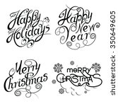 happy holidays | Shutterstock .eps vector #350649605