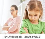 Small photo of mother and her daughter quarreled