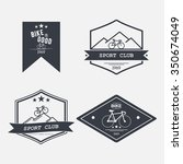 set of four logos bike | Shutterstock .eps vector #350674049