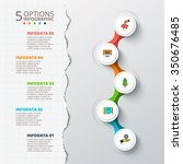 vector cirlces for infographic... | Shutterstock .eps vector #350676485