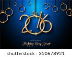 2016 happy new year and merry... | Shutterstock .eps vector #350678921
