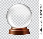 snow globe. big white... | Shutterstock .eps vector #350680967