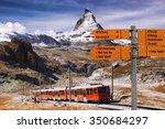 matterhorn with signpost...
