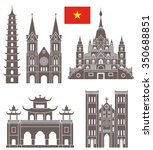 vietnam buildings. abstract... | Shutterstock .eps vector #350688851