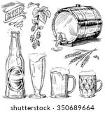 hand drawn beer set | Shutterstock .eps vector #350689664