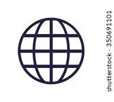 globe icon | Shutterstock .eps vector #350691101